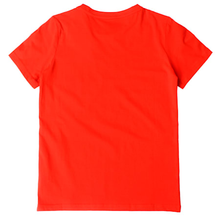 PUMA Hero Tee Cotton Black, Flame Scarlet, small-IND