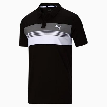 Polo en jersey à rayures Essential Sport, Puma Black-White, petit