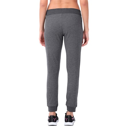 7 8 Zippered Terry Pants w, Dark Gray Heather, small-IND