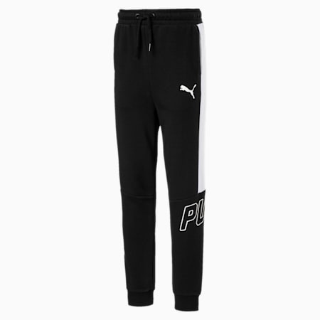 Boys' Style Pants, Cotton Black, small-IND