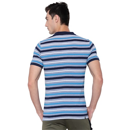 Stripe Pique Polo 3, TRUE BLUE-Peacoat, small-IND