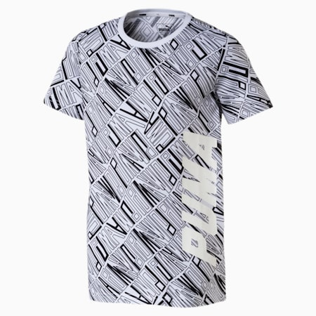 Style Graphic Tee AOP, Puma White-AOP, small-IND