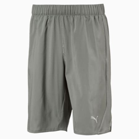 Boys' Gym Woven Shorts, Castor Gray, small-IND