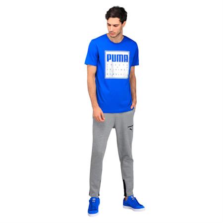 Brand Slogan Tee, Lapis Blue, small-IND