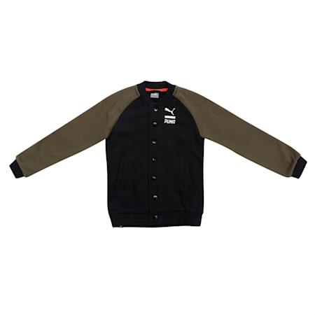 Style Baseball Jacket, Cotton Black, small-IND