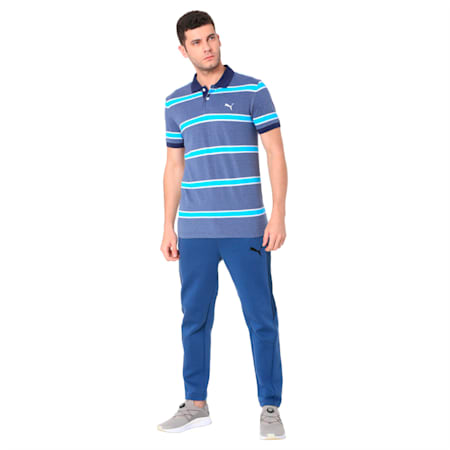 STRIPE PIQUE POLO M, Peacoat, small-IND