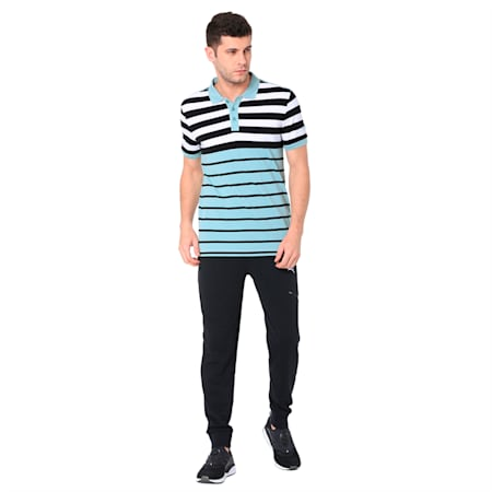 ENGINEERED STRIPE POLO 2 M, Aquifer, small-IND