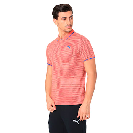 ZIPPER CLOSURE POLO M, Spiced Coral Heather, small-IND