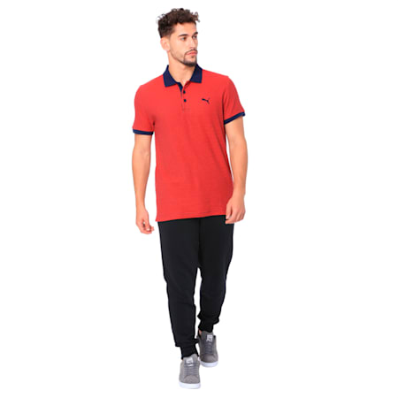 Pin Stripe Polo, Puma Red-Peacoat, small-IND