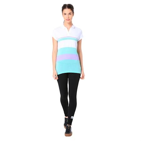 Wns Engineered Stripe Polo, Puma White, small-IND
