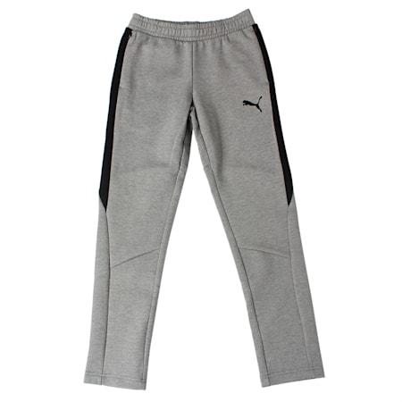 Evostripe Move Boys' Pants, Medium Gray Heather, small-IND