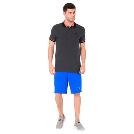 MULTICOLOR TIPPING POLO M, Dark Gray Heather, small-IND