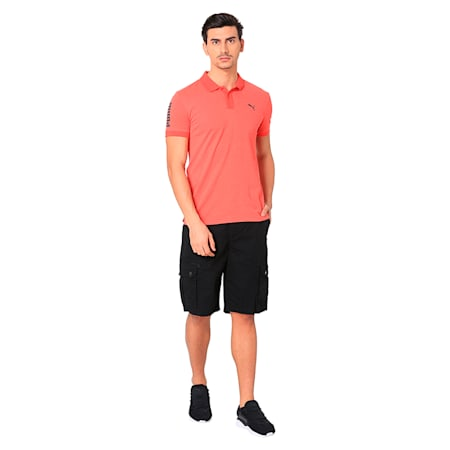 CONTRAST HEATHER POLO, Spiced Coral Heather, small-IND