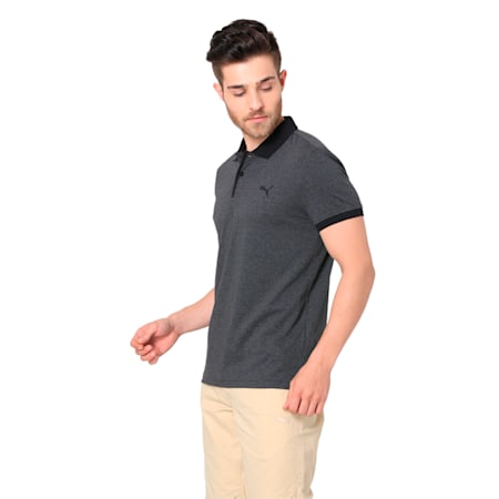 AOP POLO M, Dark Gray Heather, small-IND