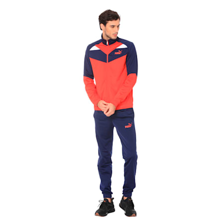 Iconic Tricot Cl Men's Track Suit, High Risk Red, small-IND