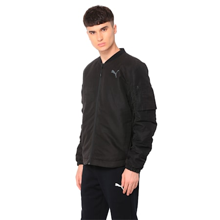 Style Bomber Mens, Puma Black, small-IND