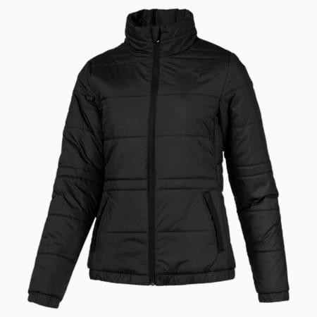 Women's Essential Padded Jacket, Puma Black, small-SEA