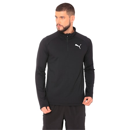 Active dryCELL Men's Half Zip Sweater, Puma Black, small-IND