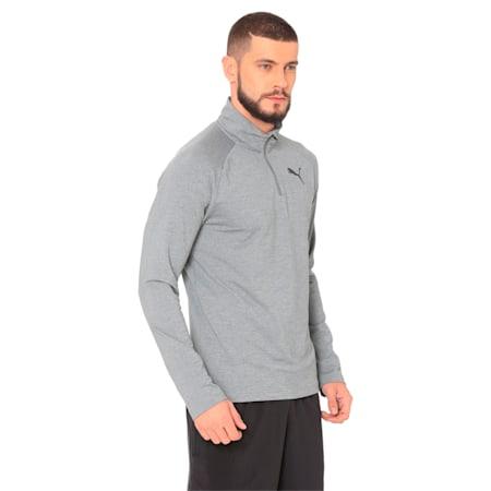 Active dryCELL Men's Half Zip Sweater, Medium Gray Heather, small-IND