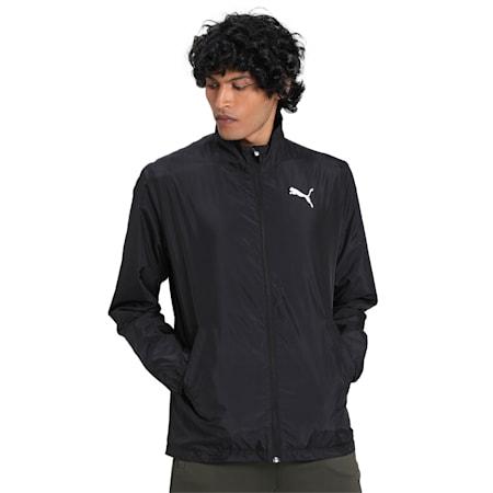 Active Full Zip Men's Jacket, Puma Black, small-IND