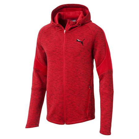 Evostripe Full Zip Men's Hoodie, Ribbon Red, small-IND