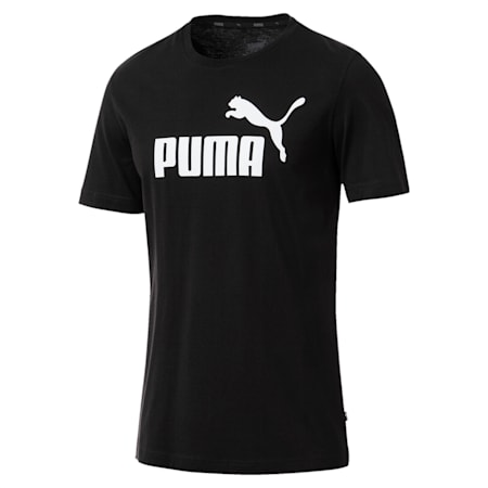 Essentials Short Sleeve Men's T-Shirt, Cotton Black, small-IND