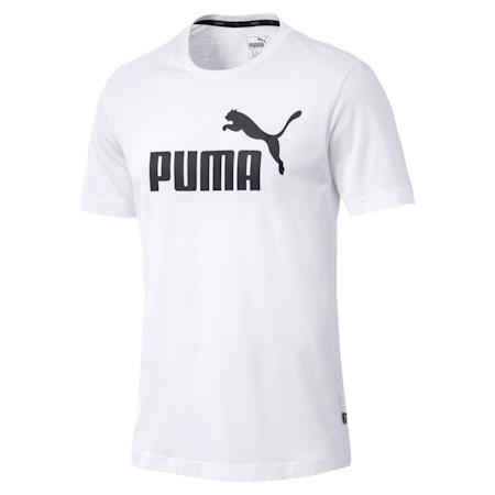 Essentials Short Sleeve Men's T-Shirt, Puma White, small-IND