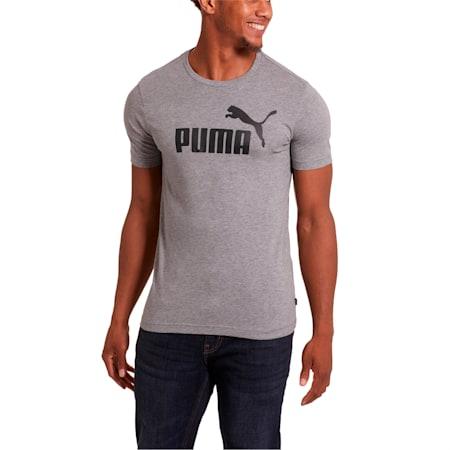 Camiseta Essentials para hombre, Medium Gray Heather, pequeño