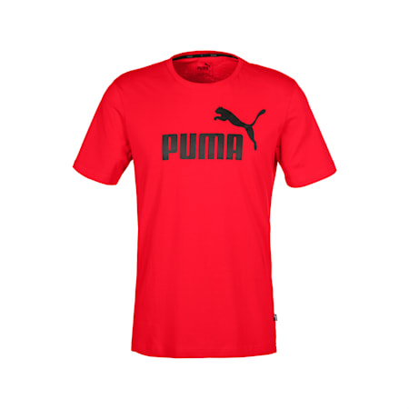 Essentials Short Sleeve Men's Tee, Puma Red, small-SEA
