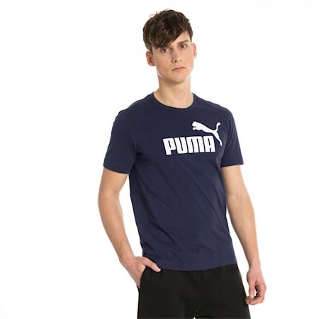 T-shirt a maniche corte Essentials uomo, Peacoat, small
