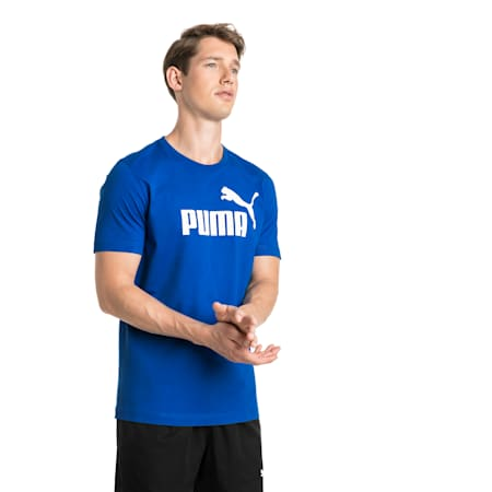 Essentials Short Sleeve Men's Tee, Puma Royal, small