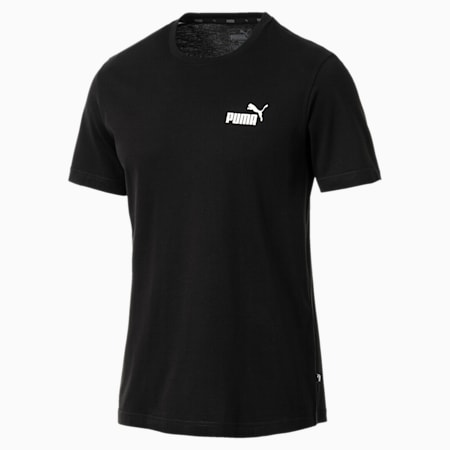 Men's Essentials Small Logo T-Shirt, Cotton Black, small-SEA
