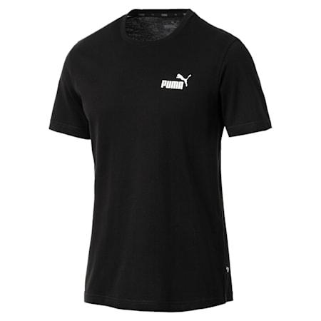 Men's Essentials Small Logo Cotton T-Shirt, Cotton Black, small-IND