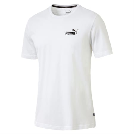 Men's Essentials Small Logo Cotton T-Shirt, Puma White, small-IND