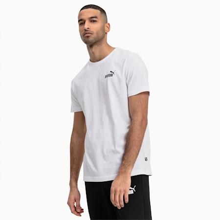 Men's Essentials Small Logo T-Shirt, Puma White, small