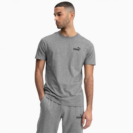 T-shirt con logo piccolo Essentials uomo, Medium Gray Heather, small