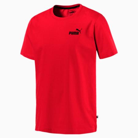 Men's Essentials Small Logo T-Shirt, Puma Red, small-SEA