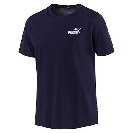 Men's Essentials Small Logo Cotton T-Shirt, Peacoat, small-IND