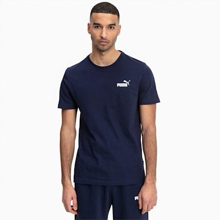 T-Shirt Essentials Small Logo pour homme, Peacoat, small