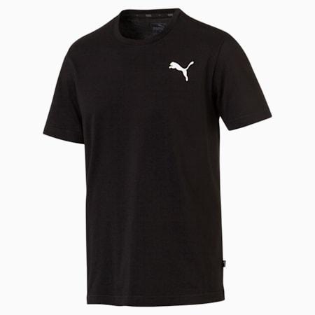Men's Essentials Small Logo T-Shirt, Cotton Black-_Cat, small-GBR