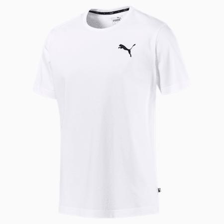 T-shirt con logo piccolo Essentials uomo, Puma White-_Cat, small