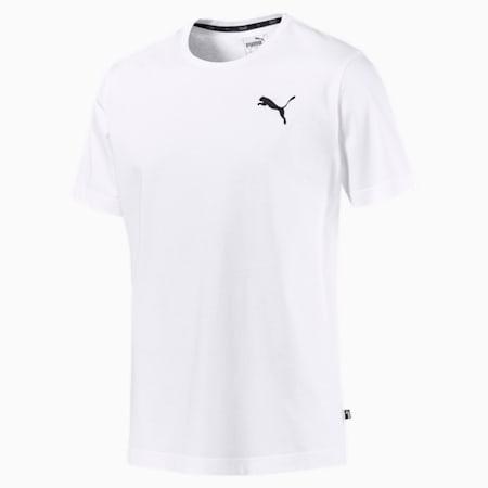 Men's Essentials Small Logo T-Shirt, Puma White-_Cat, small-GBR