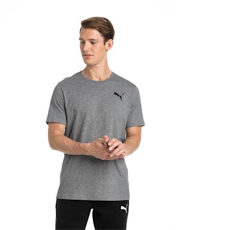 T-shirt con logo piccolo Essentials uomo, Medium Gray Heather-_Cat, small