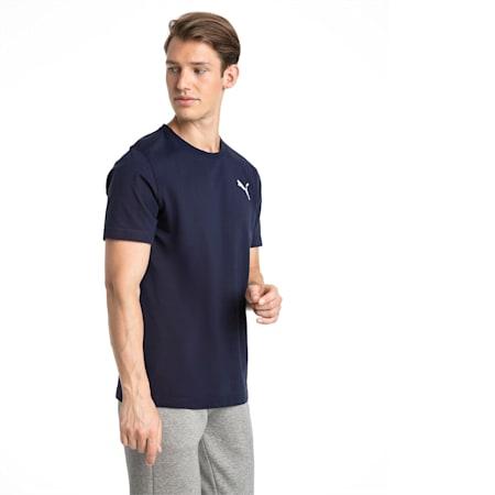 T-shirt con logo piccolo Essentials uomo, Peacoat-_Cat, small