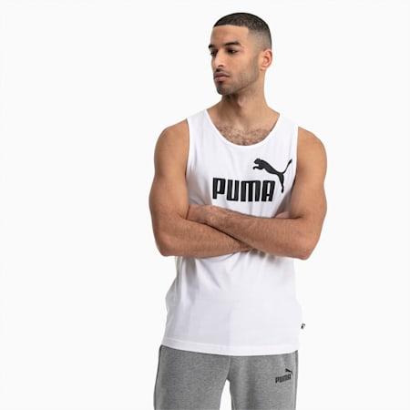 Essentials Men's Tank Top, Puma White, small