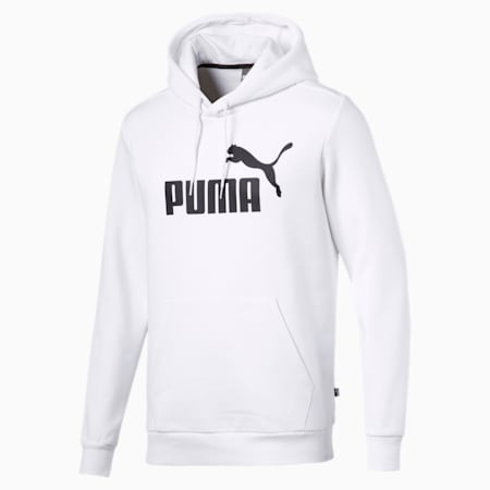 Essentials Fleece Men's Hoodie, Puma White, small-GBR