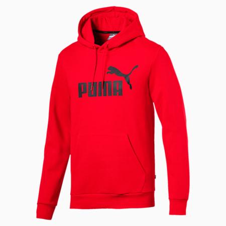 Essentials Fleece Men's Hoodie, Puma Red, small