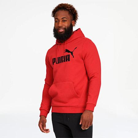 Essentials Men's Fleece Hoodie, Puma Red, small