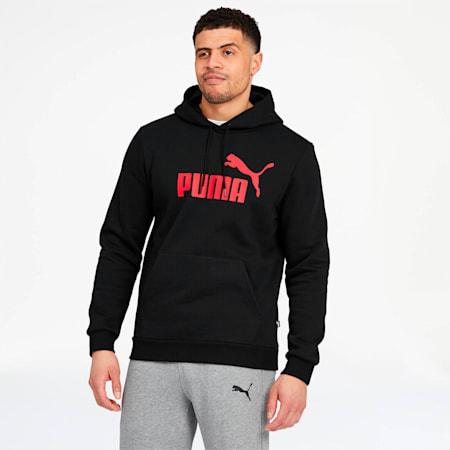 Essentials Men's Fleece Hoodie, Puma Black, small