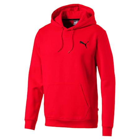 Men's Fleece Hoodie, Puma Red-Cat, small